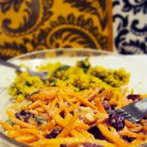 Carrot & Cranberry Salad with Ginger Dressing