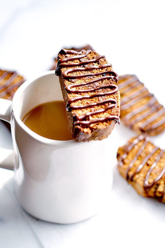 Chocolate Honey-Almond Biscotti