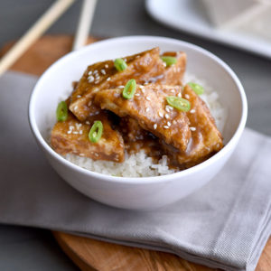 Crispy Sesame Tofu with Rice