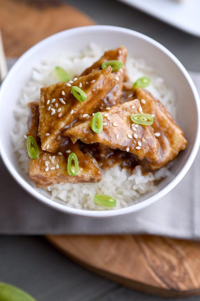 Crispy Sesame Tofu with Rice