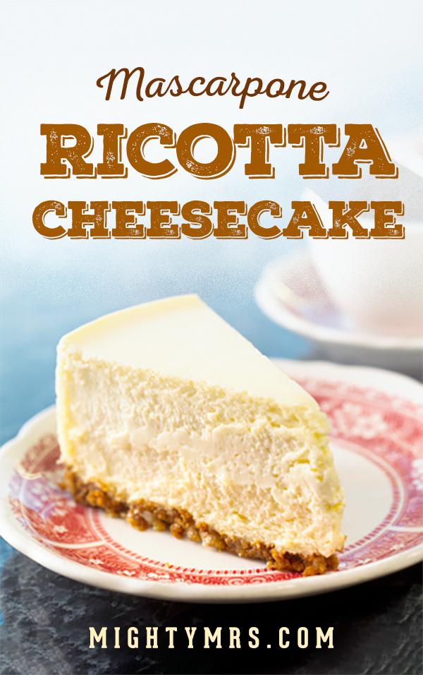 Mascarpone Ricotta Cheesecake-pin