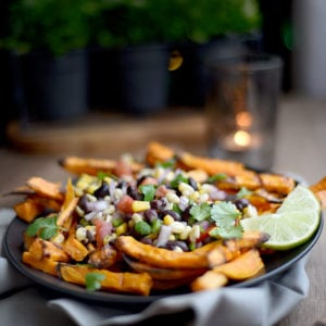 Mexican Style Baked Sweet Potato Fries