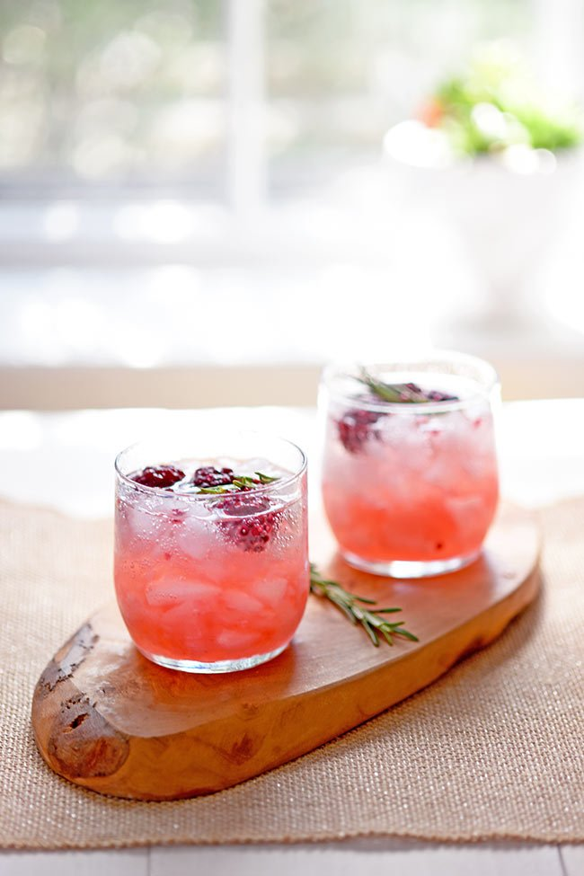 Smoked Rosemary and Blackberry Whiskey Sour