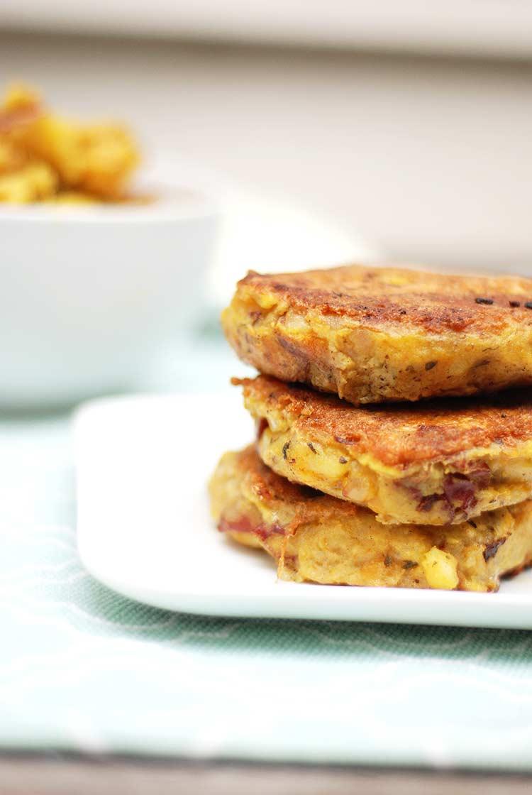Aloo Gobi Cakes