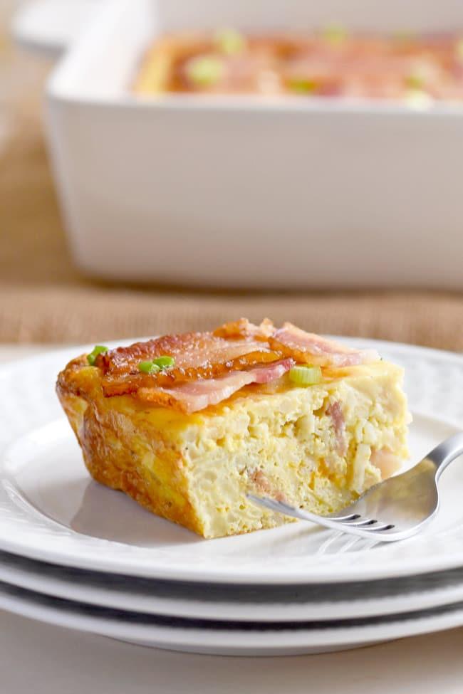 Bacon Lattice Breakfast Casserole