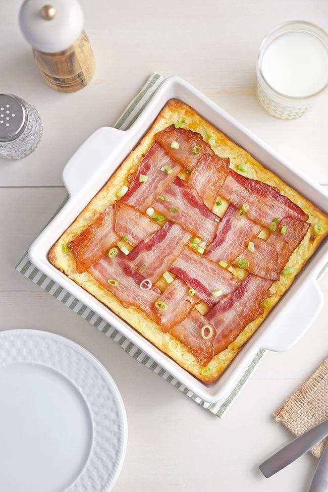 Bacon weave to form lattice