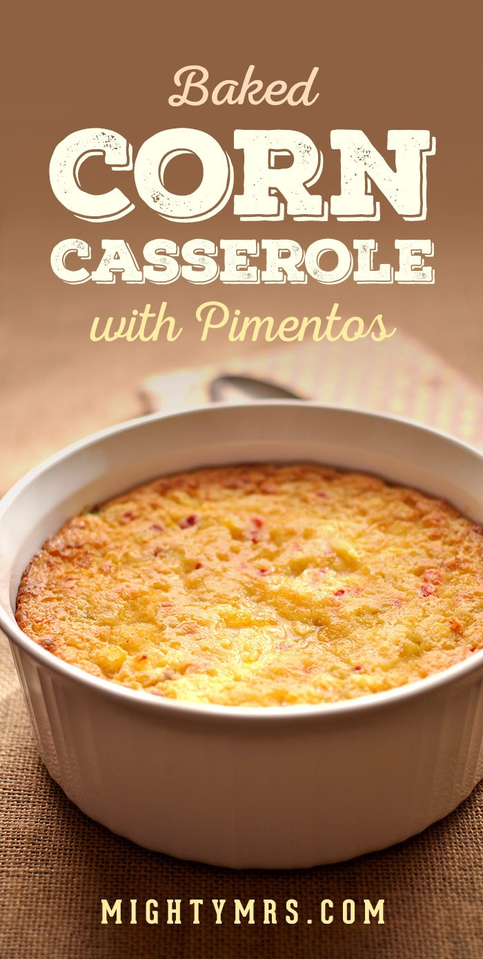 Baked Corn Casserole with Pimentos