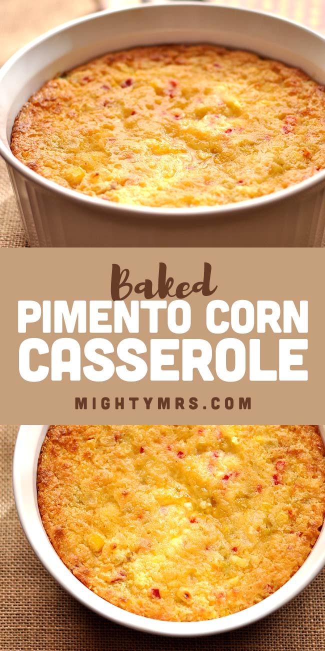 Baked Pimento Corn Casserole