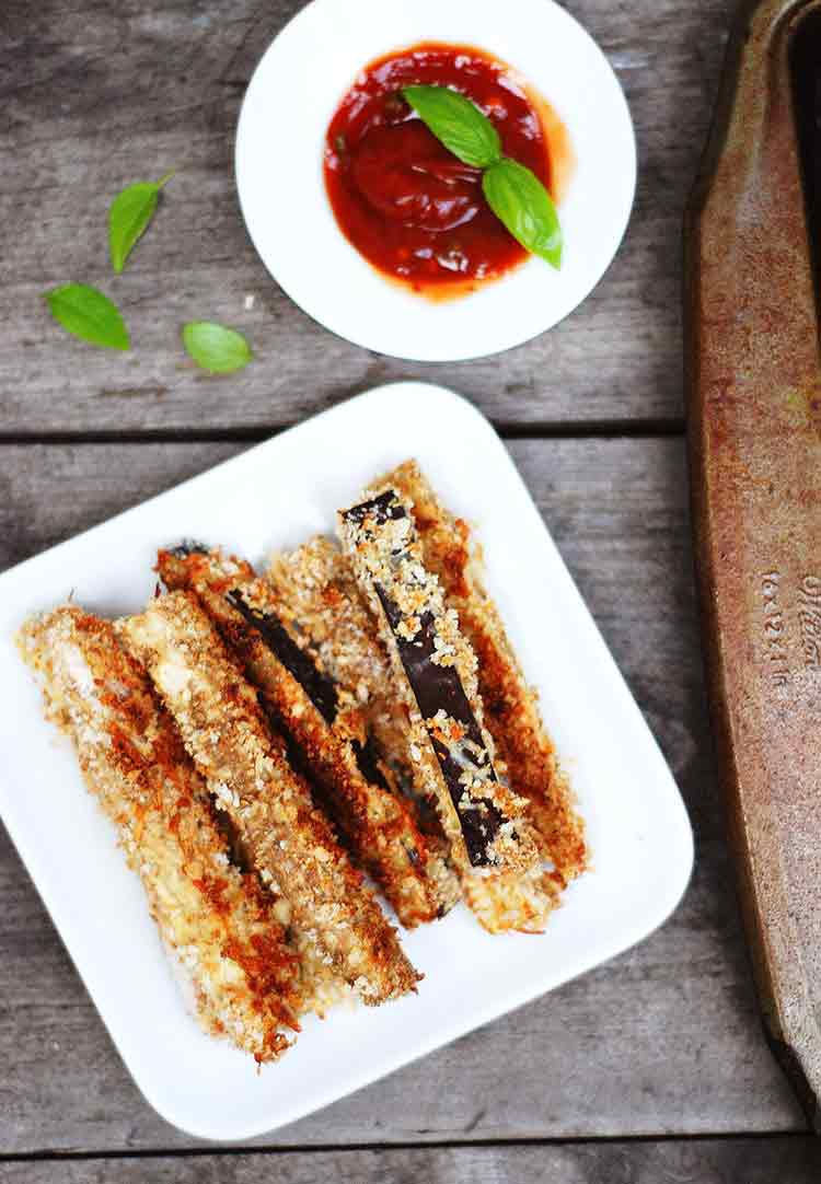 Baked Parmesan Eggplant Fries