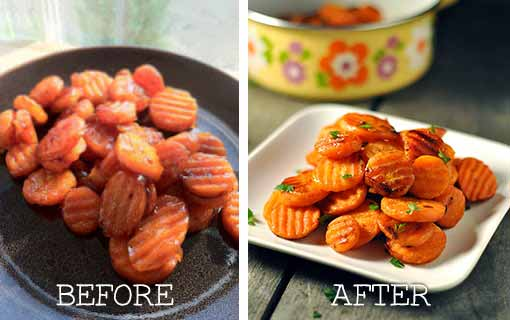 Before and After Food Photography