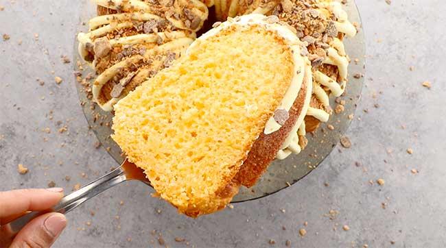 Butterfinger Bundt Cake