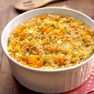 Butternut Squash Orzo with Feta and Sage