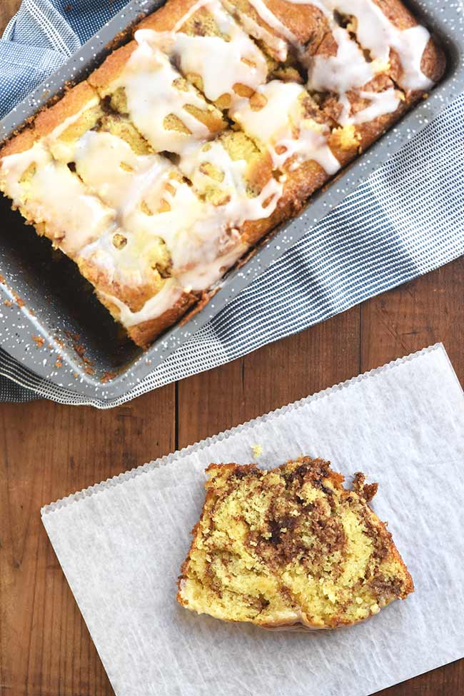 Cake Mix Cinnamon Marble Bread