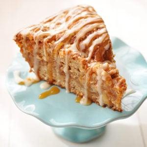 Caramel Apple Crumb Cake - Made Healthy