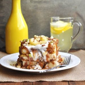 Caramel Apple Cinnamon French Toast