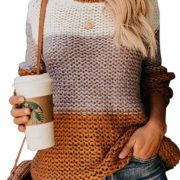 Chunky Color Block Oversized Sweater