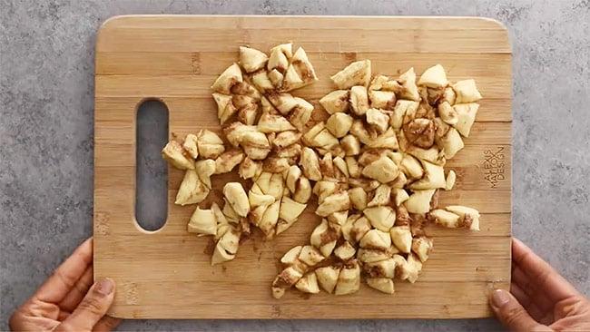 Cinnamon Roll Casserole made with cinnamon roll dough