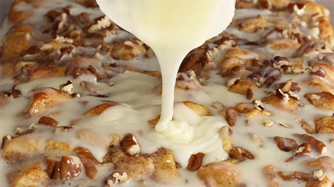 Cinnamon Roll Casserole with Icing