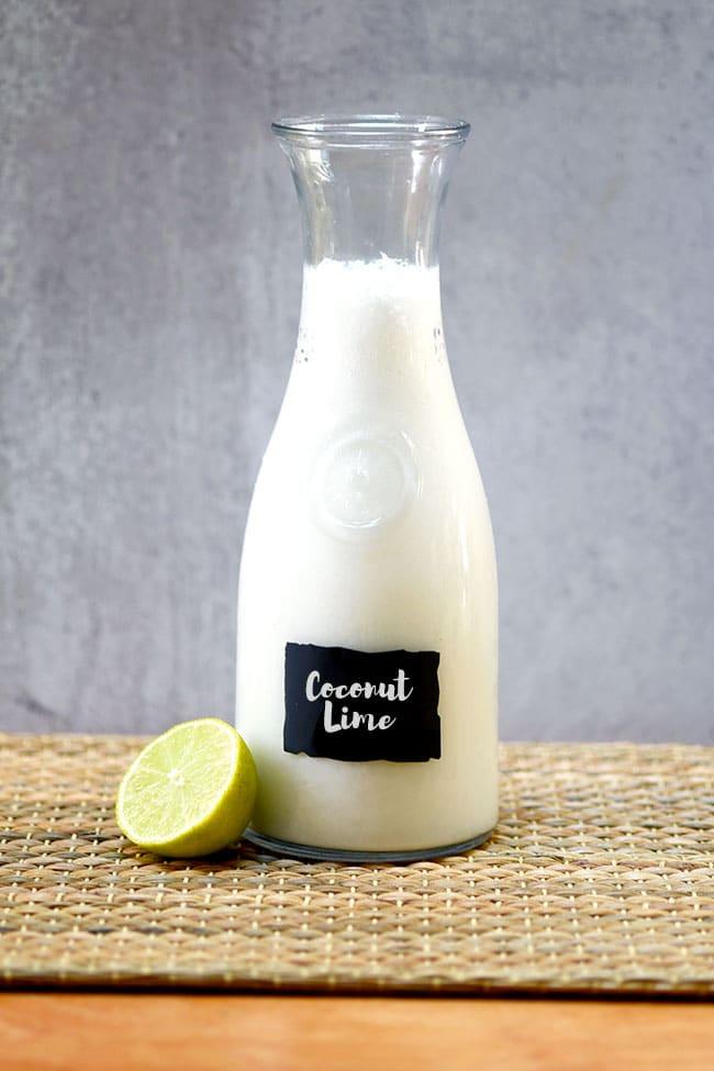 Easy Coconut Lime Agua Fresca