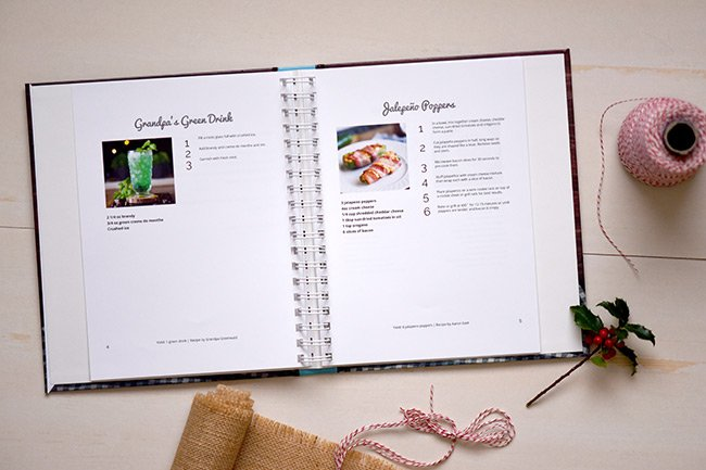 Cookbook with wire ring binding