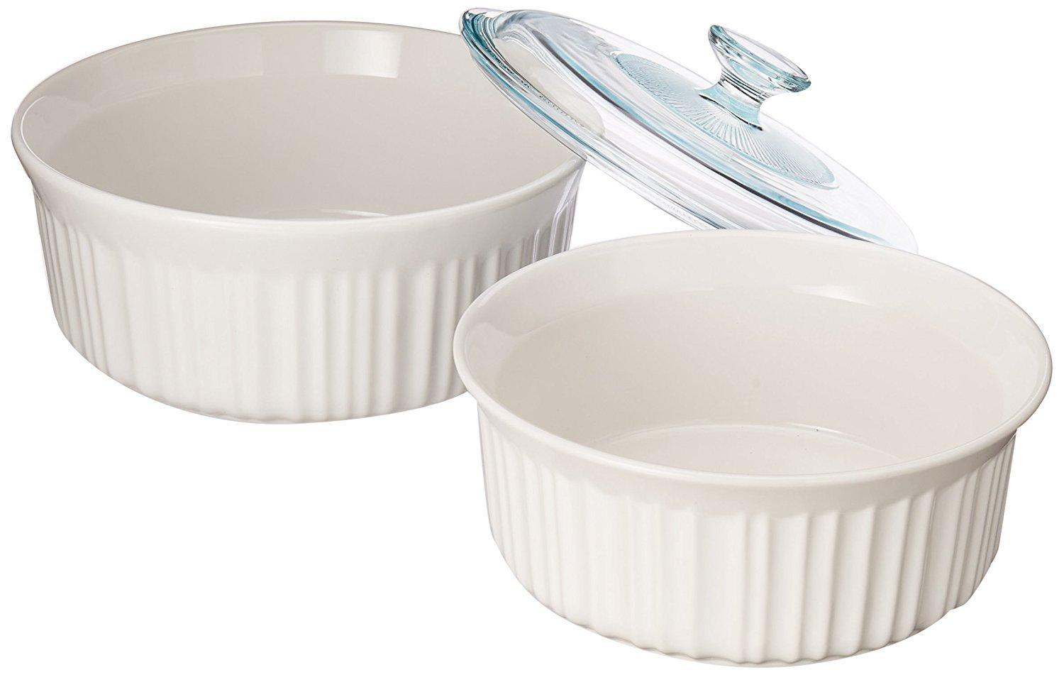 Corningware White Casserole Dish with Lid - set