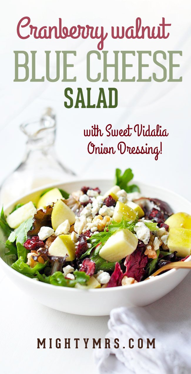Cranberry Walnut Blue Cheese Salad