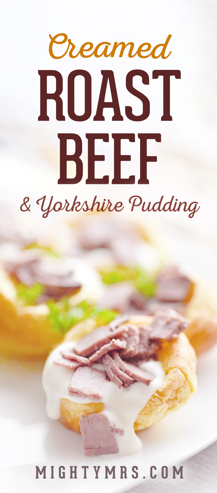 Creamed Roast Beef with Yorkshire Pudding