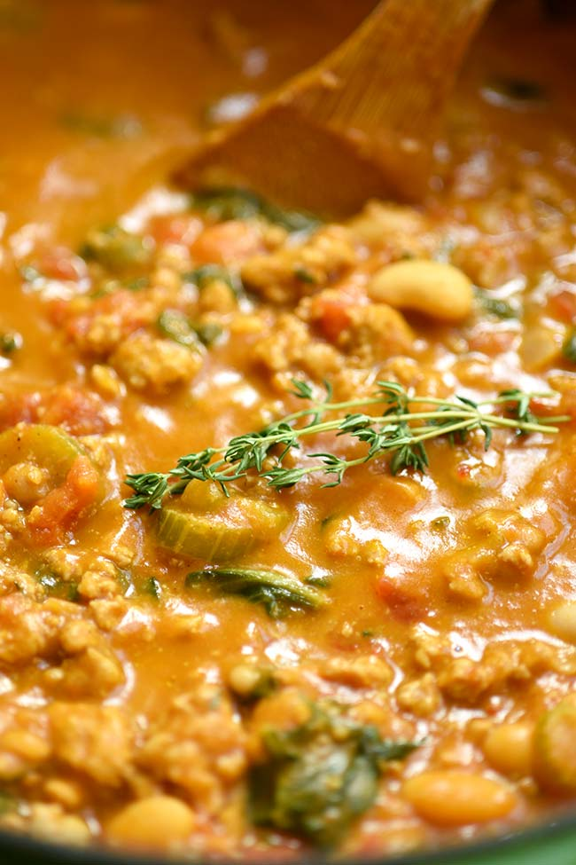 Creamy Turkey Pumpkin Chili