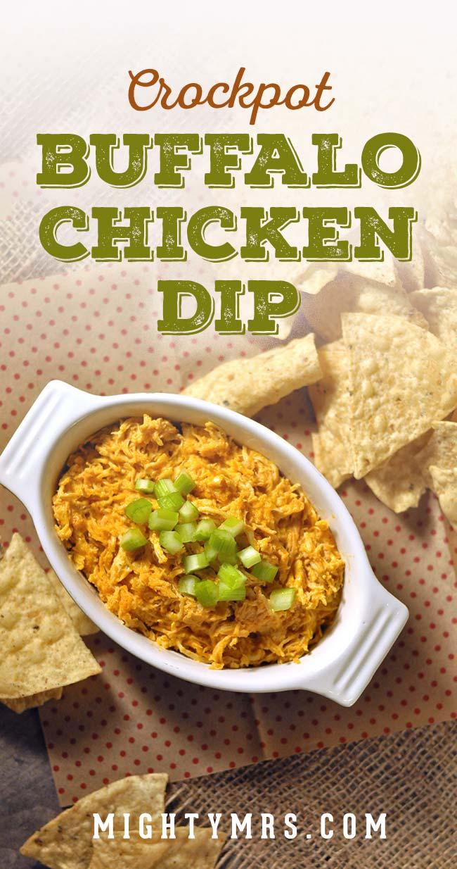 Crockpot Buffalo Ranch Chicken Dip