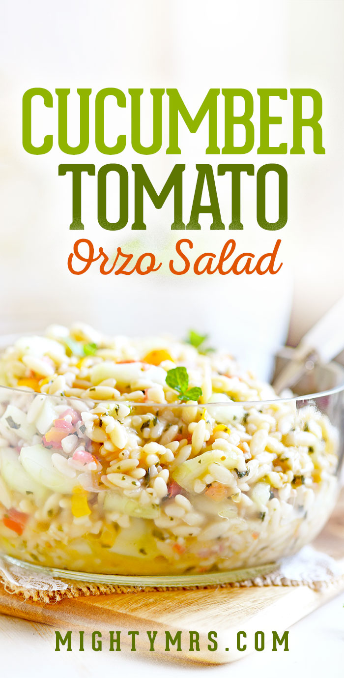 Garden Cucumber and Tomato Orzo Salad