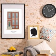 Custom house portrait and custom silhouette - Unqiue gift ideas