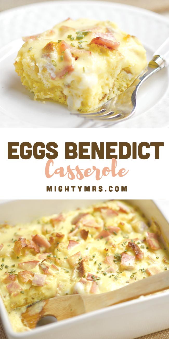 Easy Baked Eggs Benedict Casserole