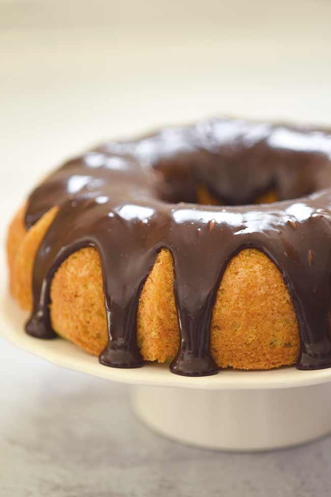 Boston Cream Bundt Cake with Chocolate Ganache