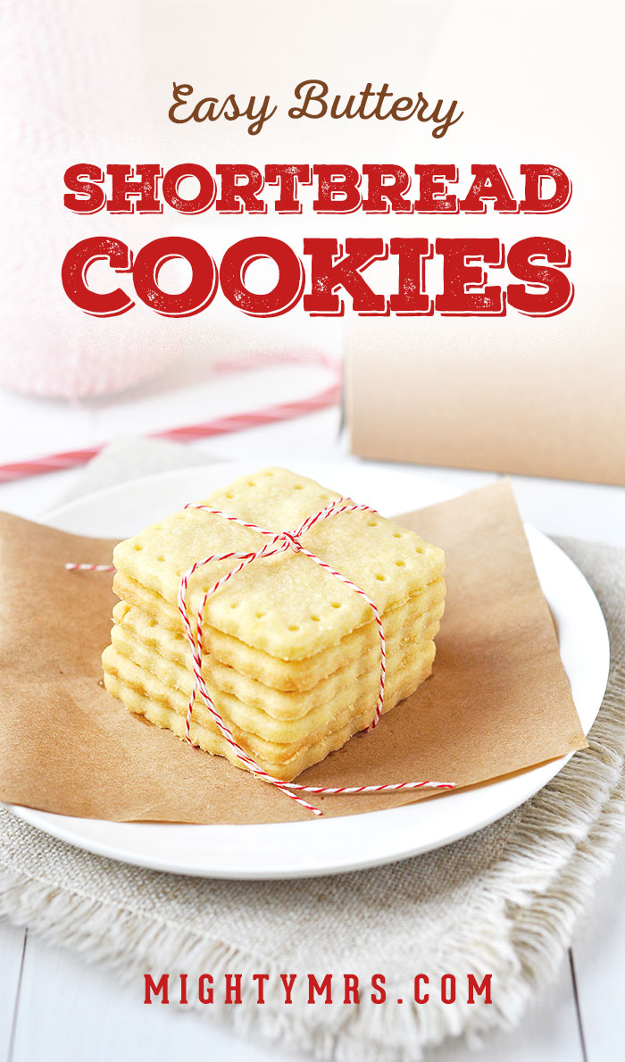 Easy Buttery Shortbread Cookies