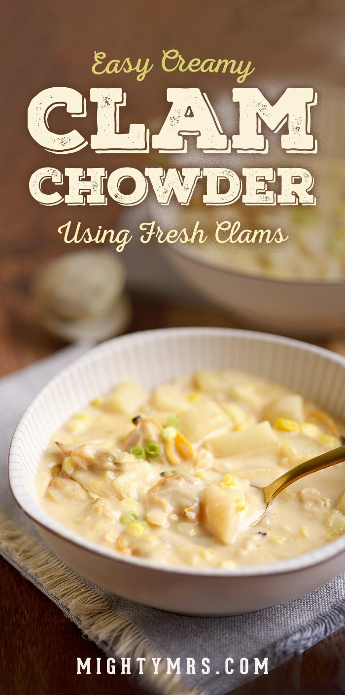Easy Creamy Clam Chowder