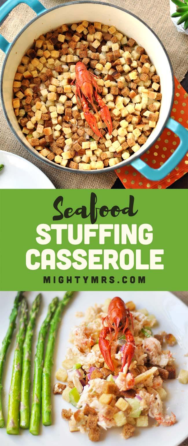 Seafood Stuffing Casserole