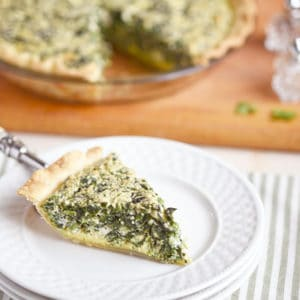Easy Spinach Feta Quiche Souffle