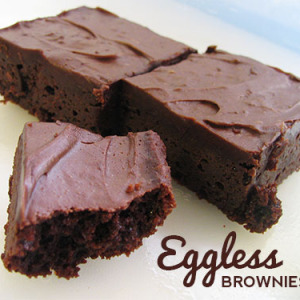 Chocolate-Glazed Eggless Brownies