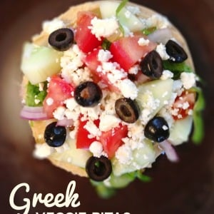 Greek Veggie Pita Sandwich