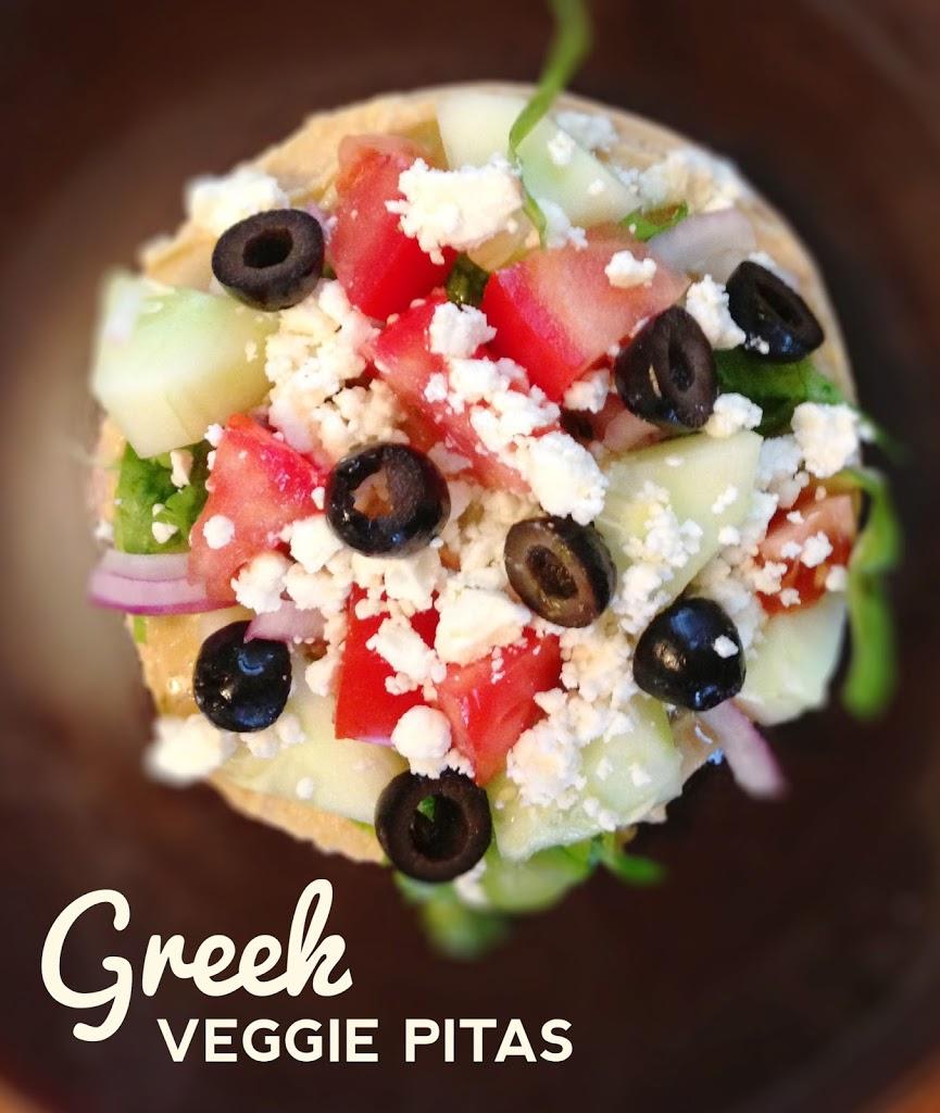 Greek Veggie Pita Sandwich