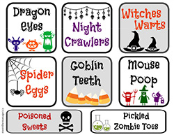 Free Halloween Printable - Cupcake Bar