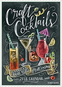 Hand Drawn Craft Cocktail Calendar