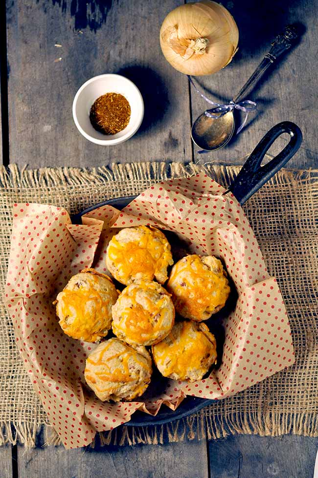 Easy Cajun Ham and Cheese Biscuits