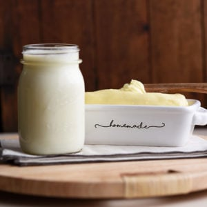 Homemade Butter and Buttermilk using Heavy Cream