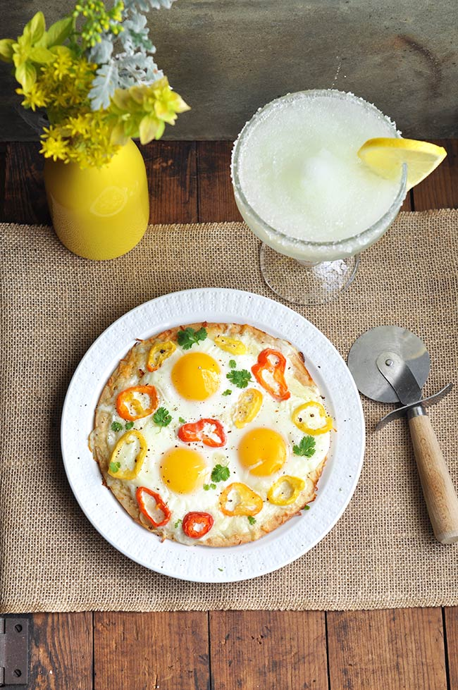 Sunny-side Up Hot Pepper Breakfast Pizza