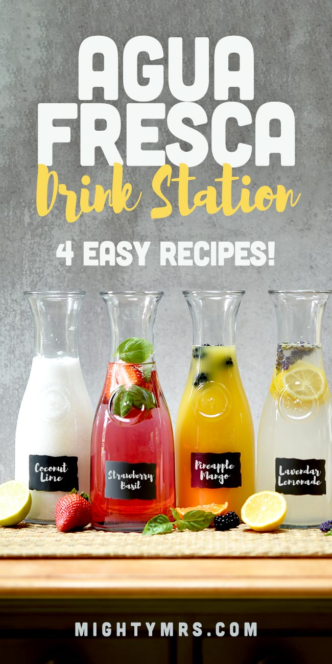 How to Make an Agua Fresca Drink Station (4 Recipes)