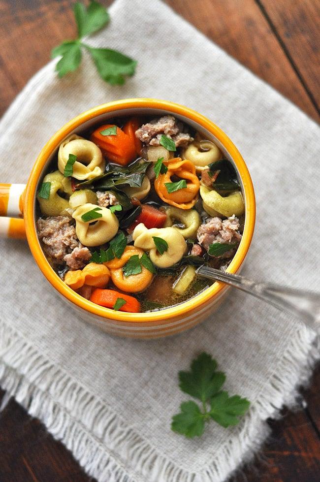 Italian Sausage Tortellini Soup