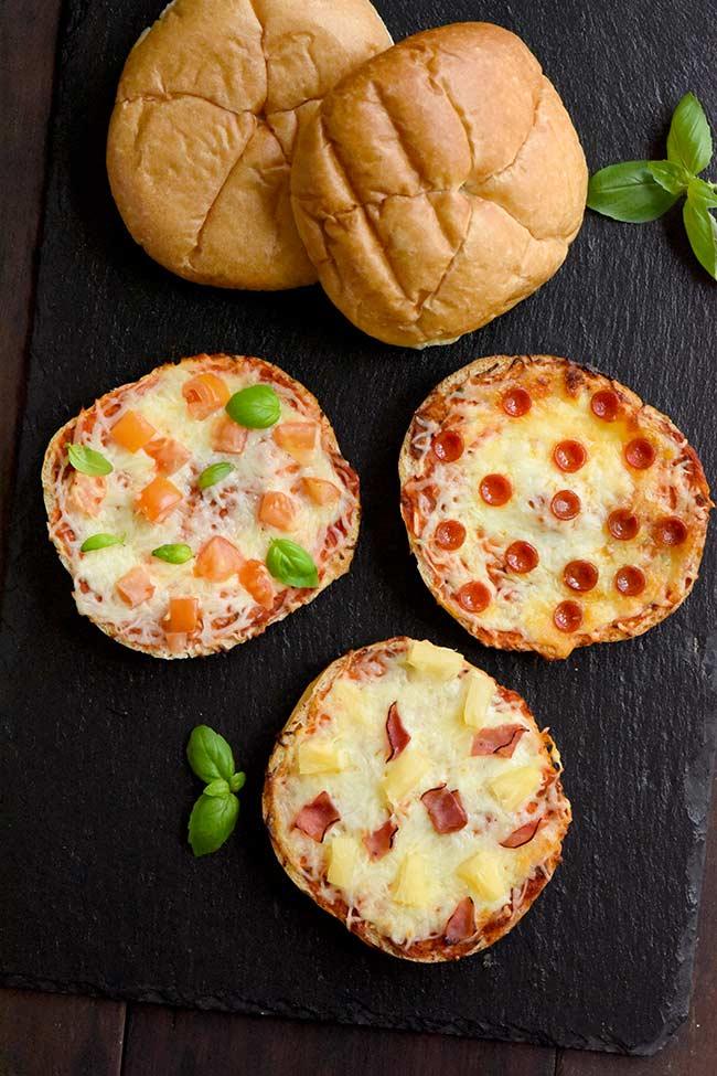 Kaiser Roll Bun Pizzas