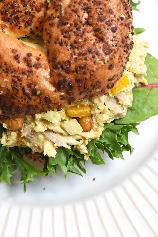 Mango Curried Chicken Salad - Made with rotisserie chicken