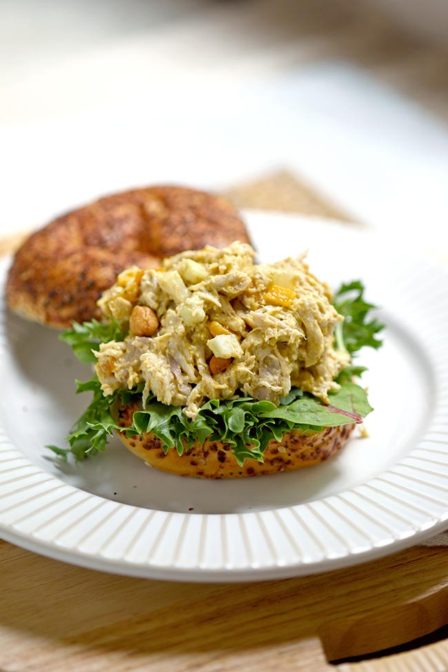 Mango Curried Chicken Salad (7 ingredients)